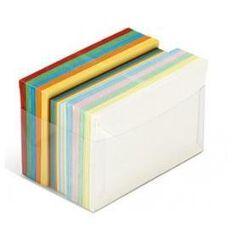 ARCOBALENO - 7,2x11 cm - 100 buste 90 g/m2 - 100 cartoncini 200 g/m2
