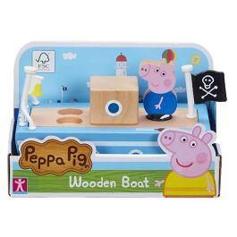 Peppa Pig - Barca in Legno e 1 Personaggio