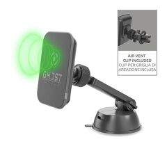 GHOST CHARGE BK - WIRELESS CHARGER MAGNETIC CAR HOLDER