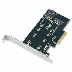 ADATTATORI PCIe 2-in-1 M.2 SSD SATA NVMe