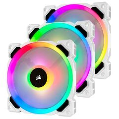 LL120 RGB 120MM - WHITE - TRIPLE PACK
