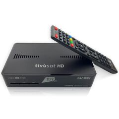 Decoder Digitale Satellitare HD, DVBS2, HEVC, 10 BIT, TELECOMANDO 2 in 1