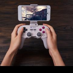 8BitDo Smartphone Clip SN30 Pro+ White