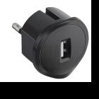Adattatore Presa USB da 1,5A con Presa Maschio Tedesca -Grigio-