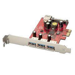 SCHEDA PCIe USB 3.0 3+1 PORTE