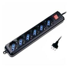 Multipresa 6 prese 2P+T 10/16 P40 con interruttore