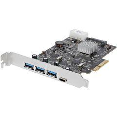 Scheda PCIe 4 Porte USB 3.1 - 3x USB-A a 1x USB-C