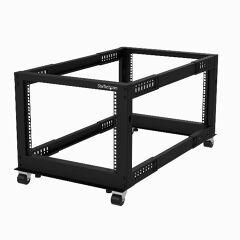 Armadio Server Rack a telaio aperto 8U - 4 staffe - Profontità regolabile