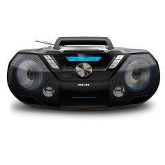 Stereo CD, cassette, USB, Bluetooth