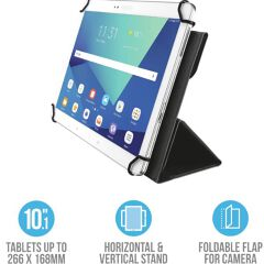 "Aexxo Universal Folio Case for 10.1"" tablets - black"