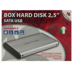 "BOX ESTERNO 2,5"" SATA USB 2.0 - MAGIK"